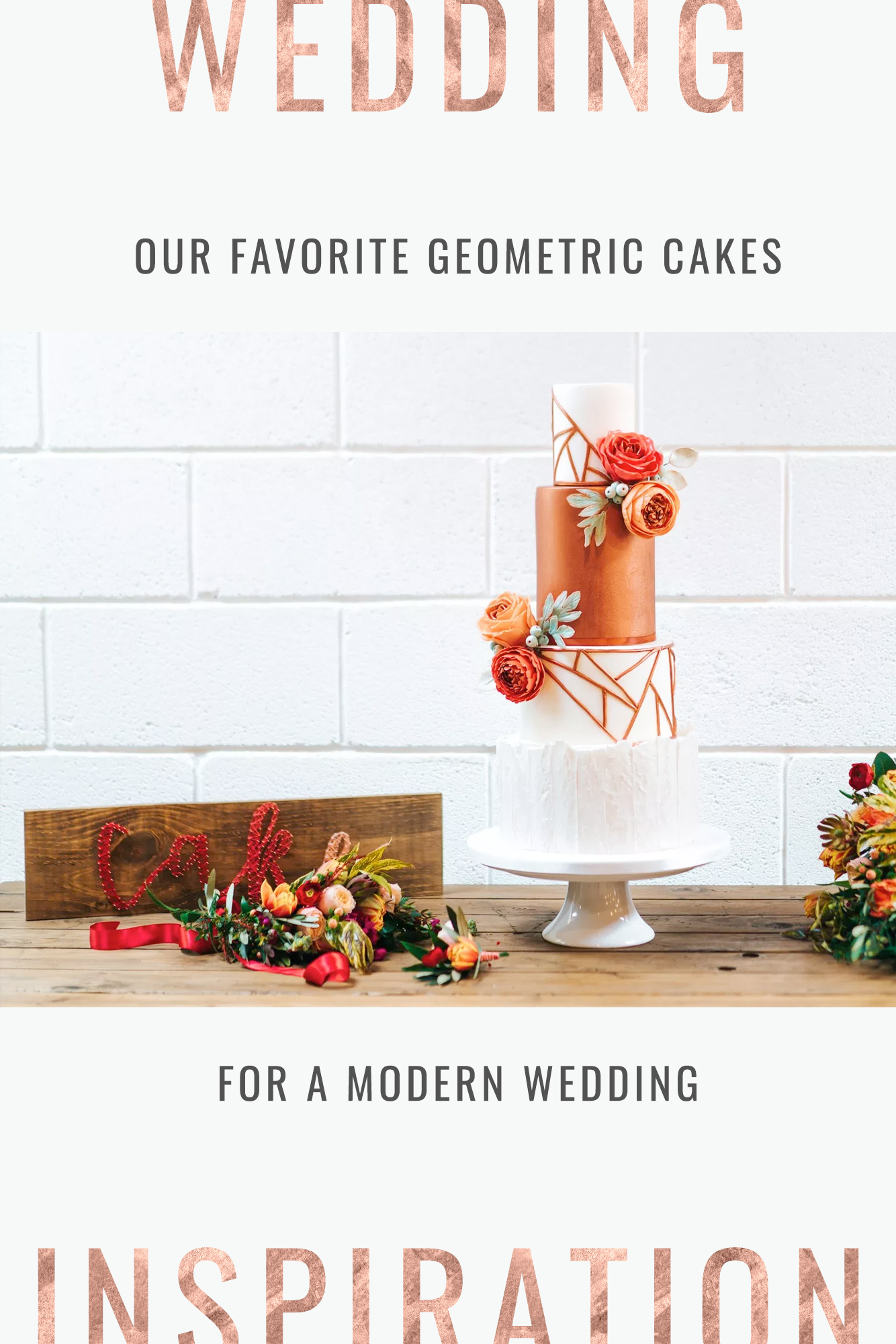 Geometric Wedding Cake Ideas