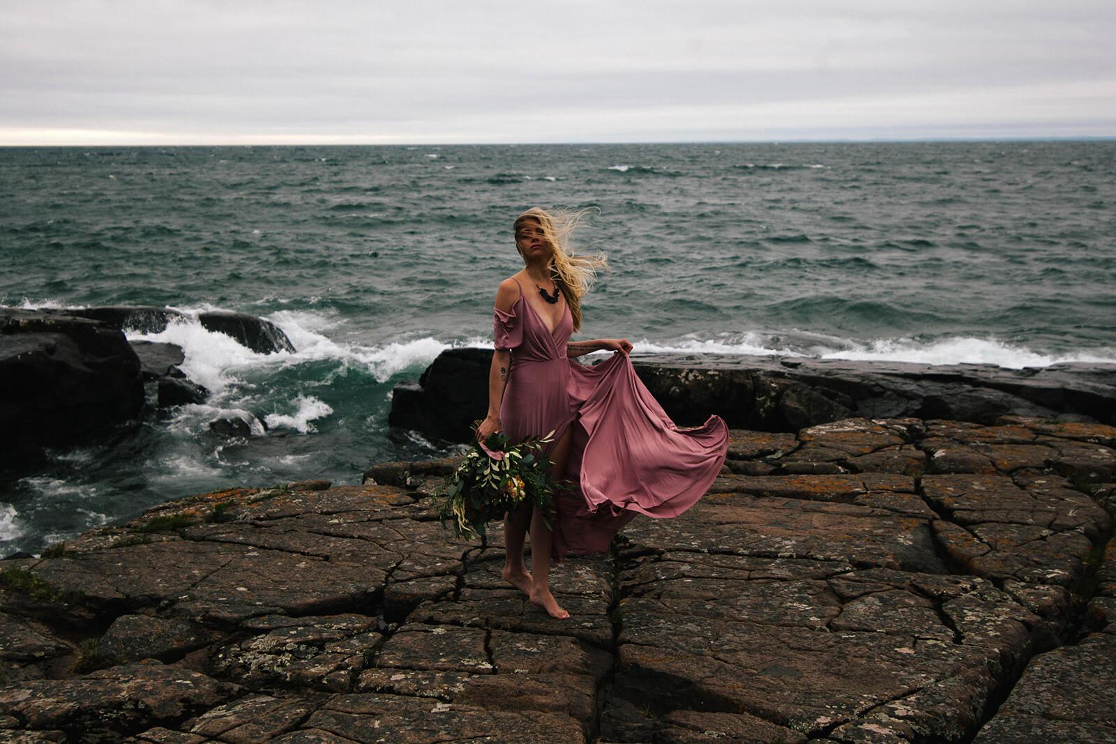 Lake Superior Bridal Portraits