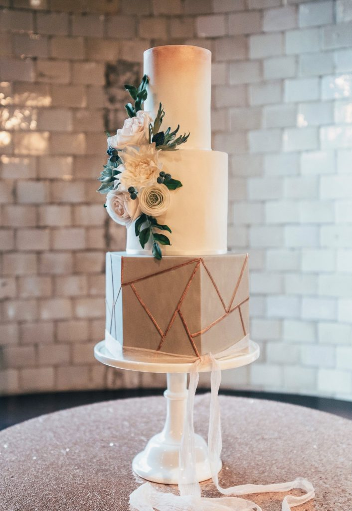 Modern Geometric Wedding Cakes