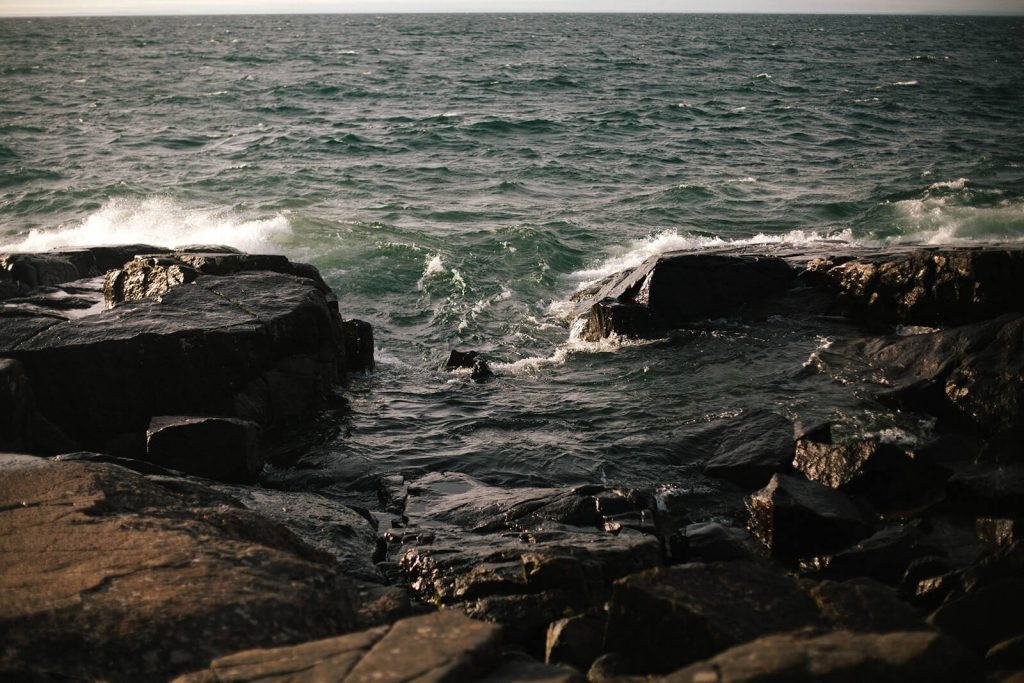 Rocky Waves of Lake Superior