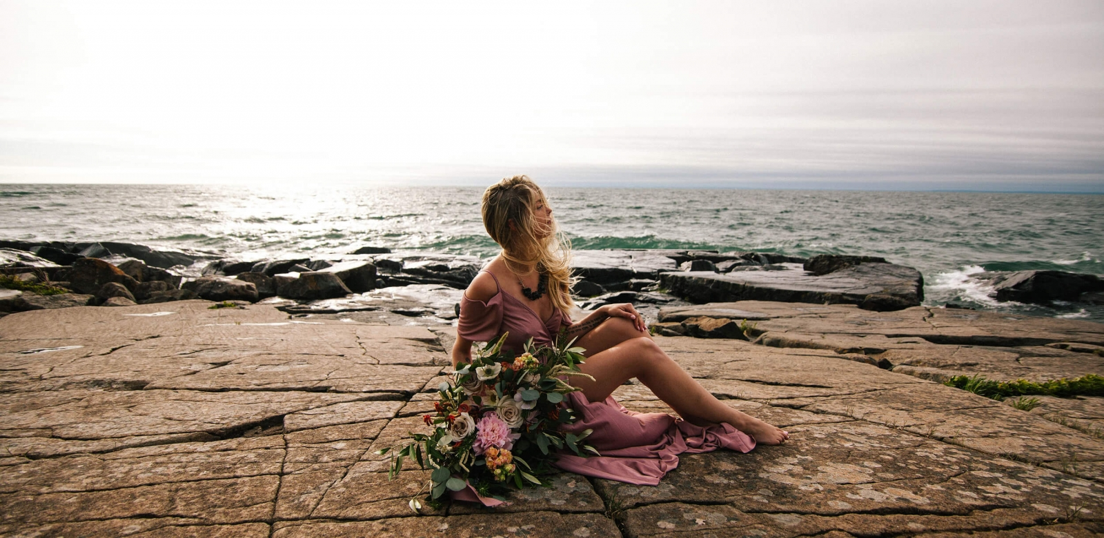 Sunrise Bridal Shoot on the Shores of Lake Superior