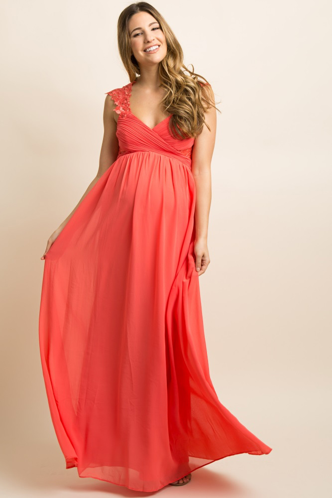 Best Maternity Coral Bridesmaid Dress