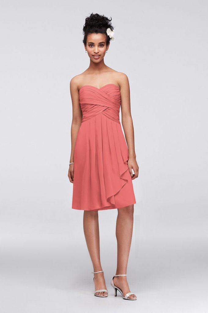 Best Versatile Coral Bridesmaid Dress