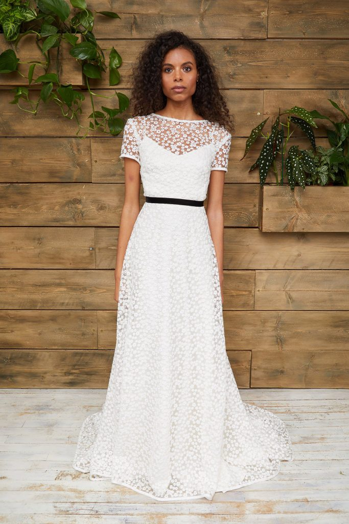 Embroidered Daisy Wedding Gown