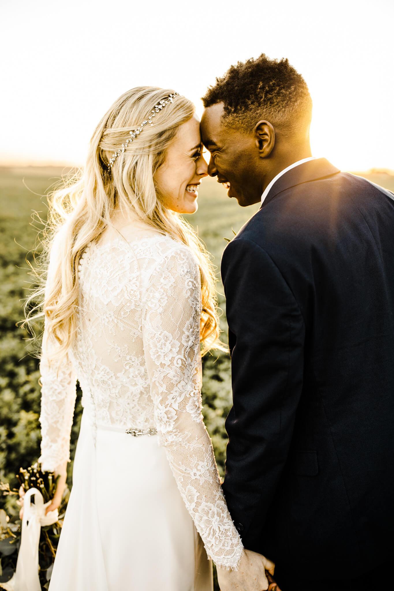 Erin & Nathaniel's Legacy Hill Wedding Portrait