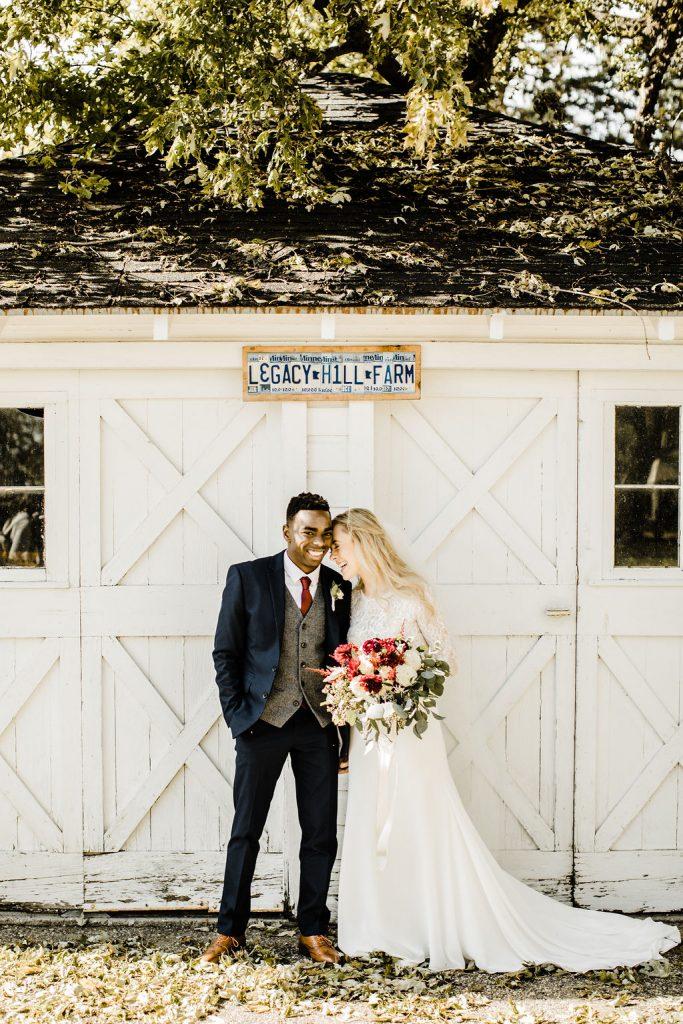 Wedding Portrait on Farm
