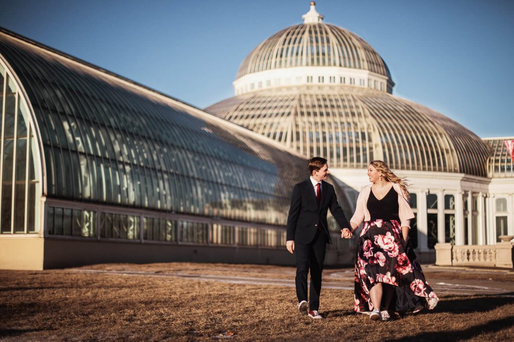 Winter Engagemnt at Como Park Conservatory