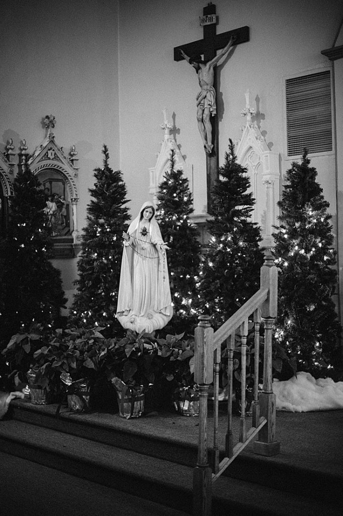 Festive Christmas Church Wedding