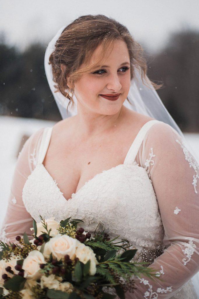 Snowy Bridal Portrait
