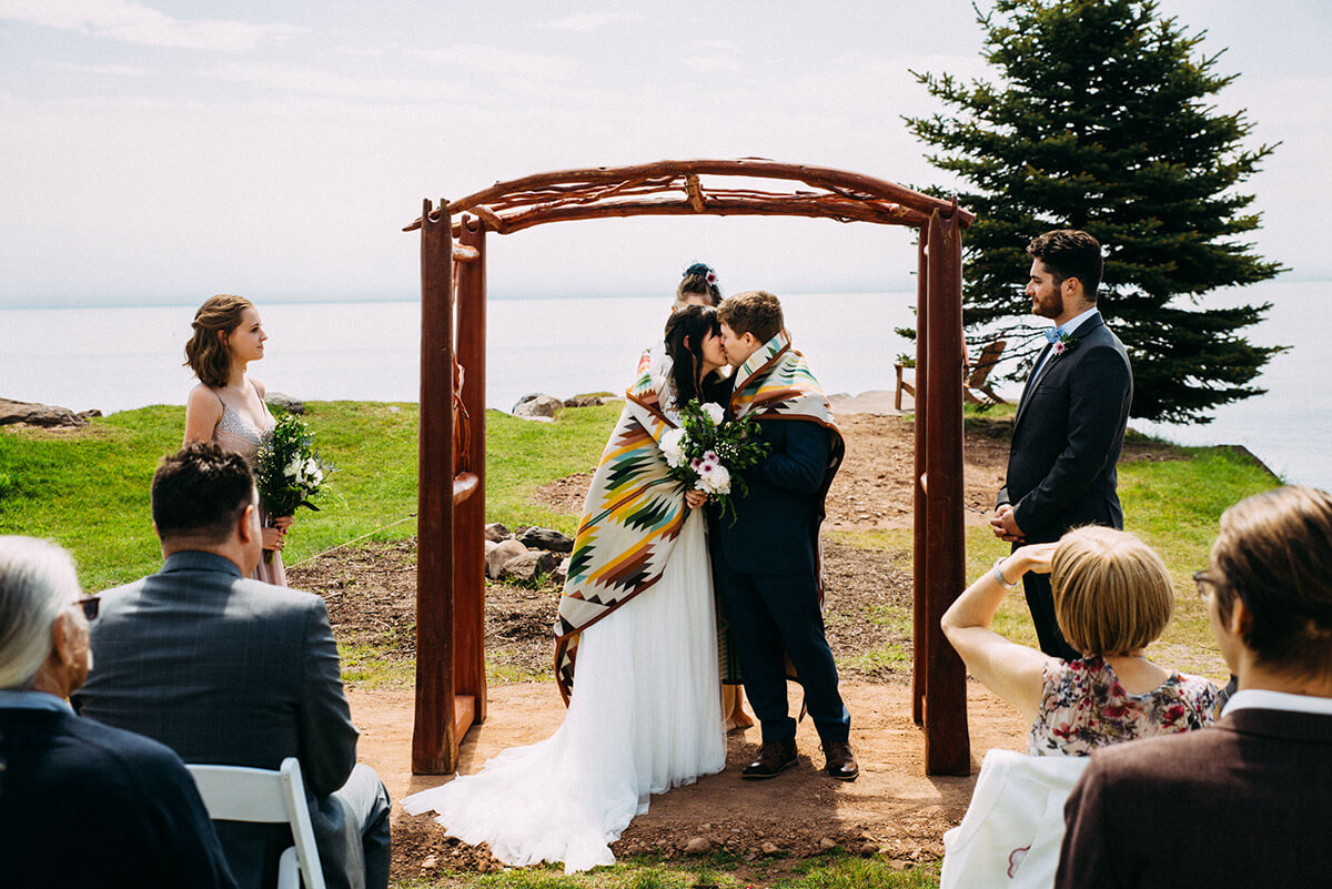 Kissing As Part of Blanket Ceremony