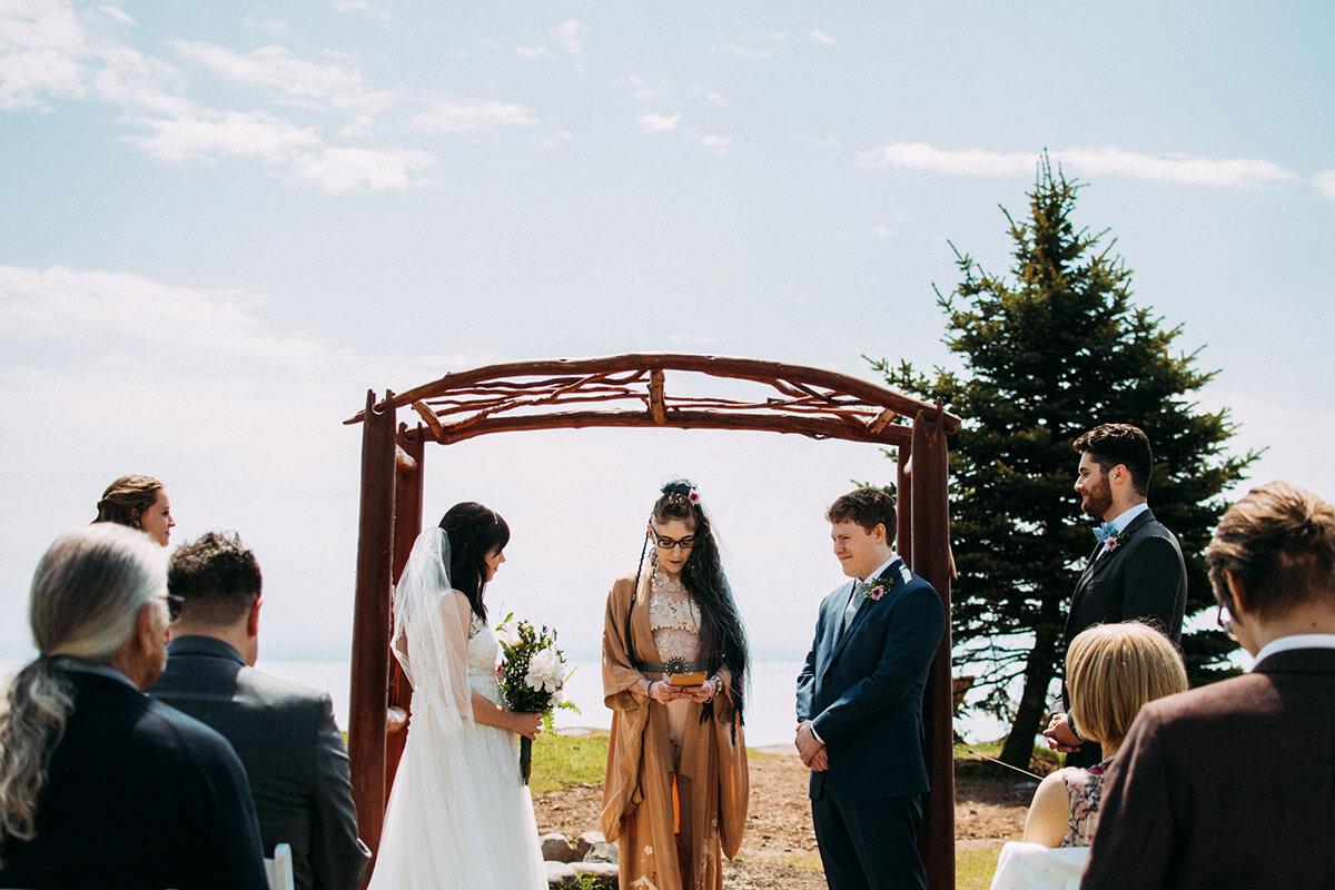 Intimate Two Harbors Wedding Ceremony