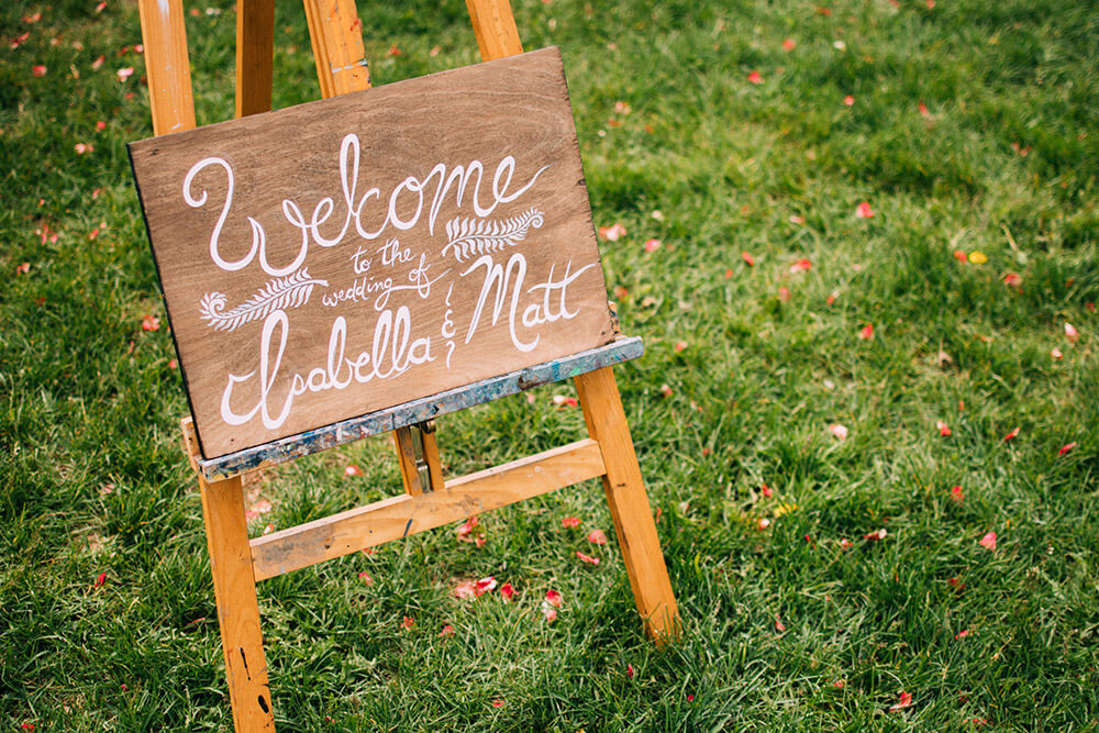 Rustic Chic Wedding Sign