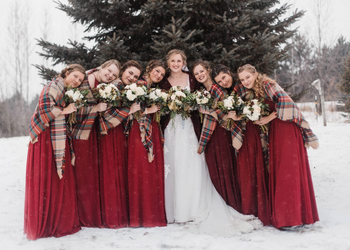Winter Wedding in River Falls, Wisconsin