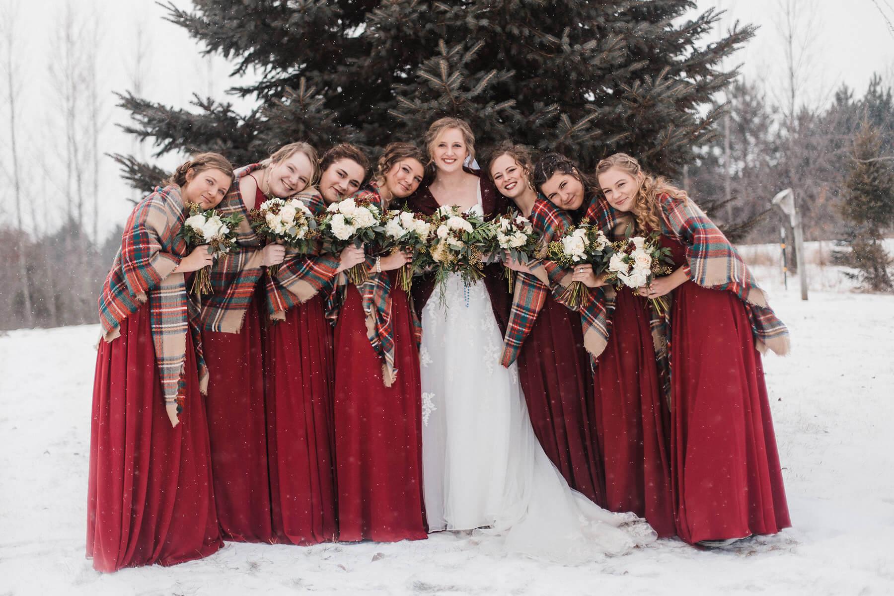 Winter Wedding in River Falls, Wisconsin