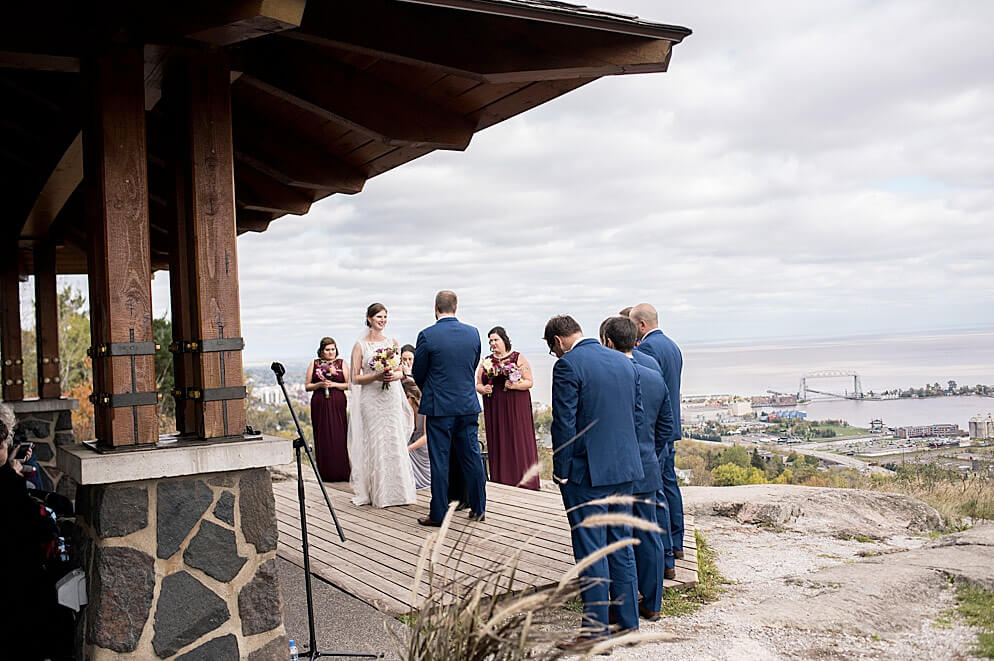 Enger Park Wedding overlooking Lake Superior