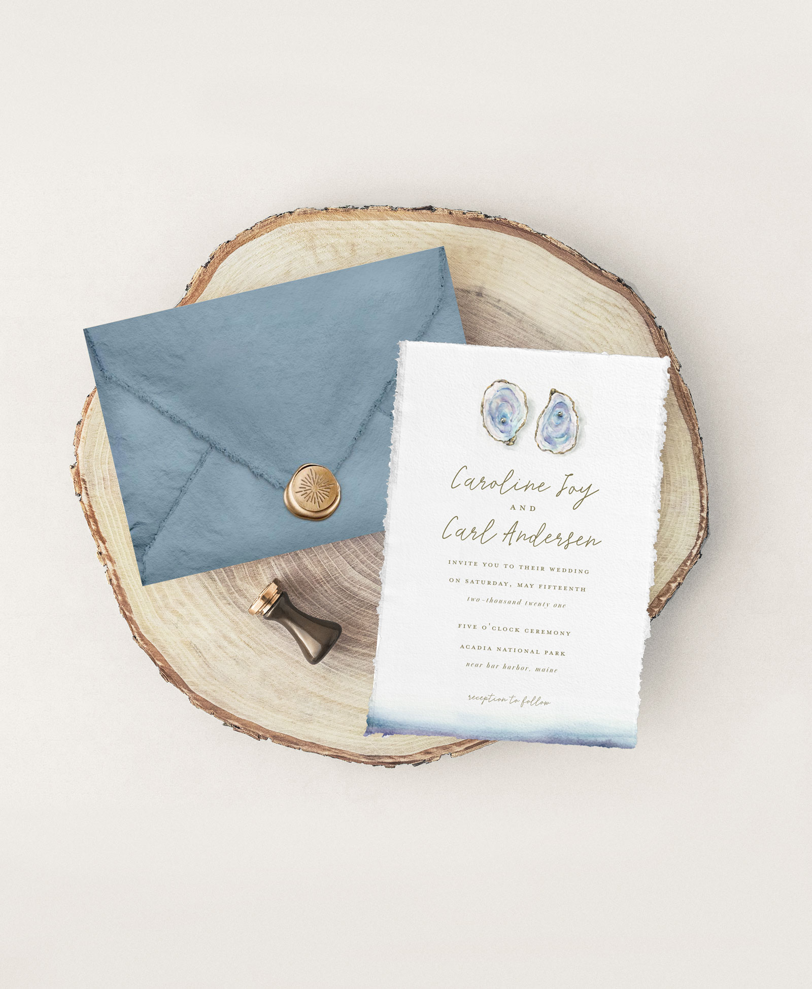 Beach Inspired Eco-Friendly Wedding Invitations