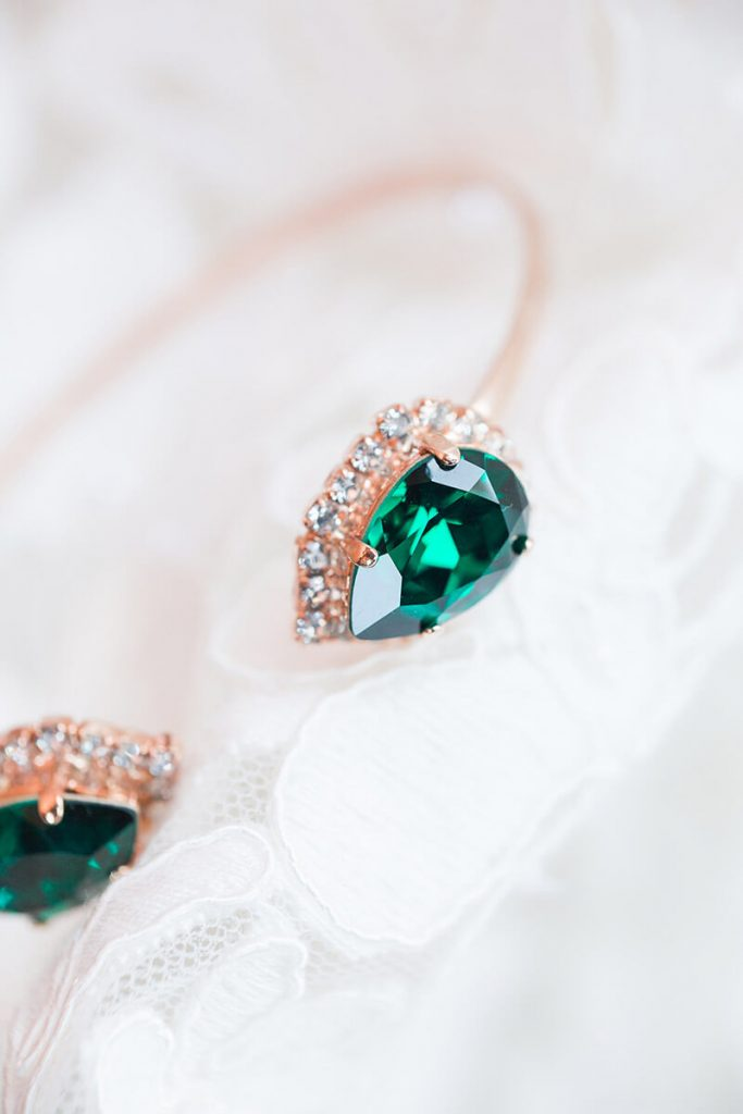 Emerald Green Wedding Bracelet