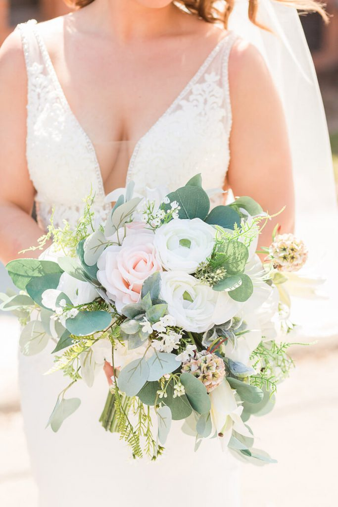 Wedding Bouquet With Fake Flowers