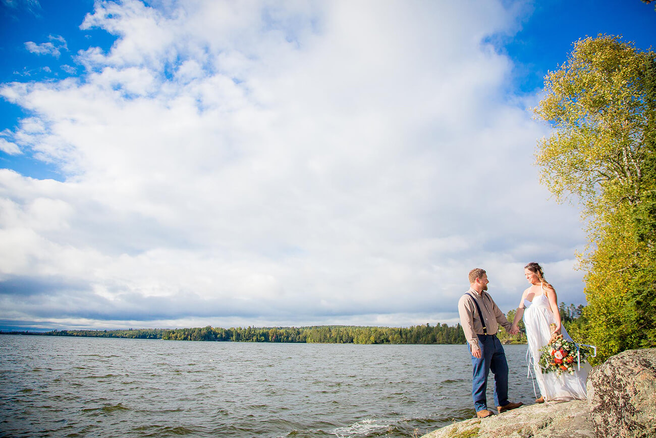 Lake Vermillion Wedding in northern Minnesota