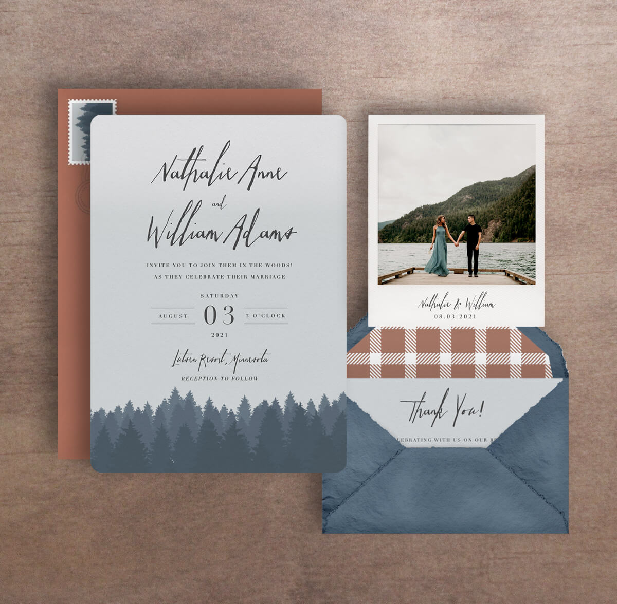 Paperless Wedding Invitations - Ombre Tree Design