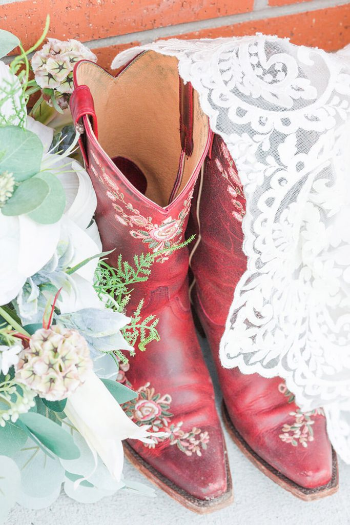 Red Wedding Cowboy Boots
