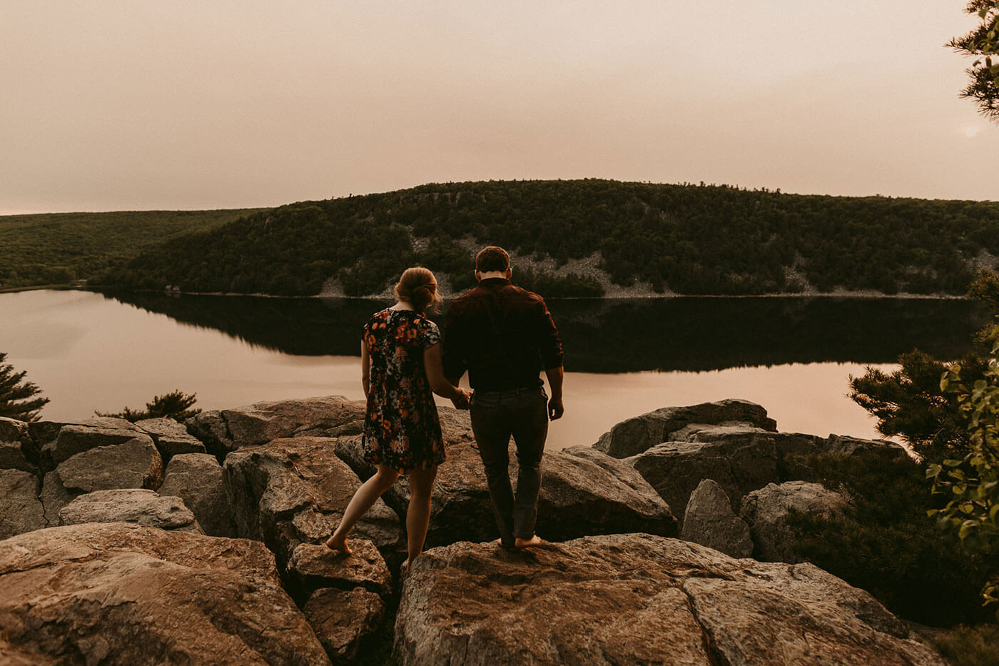 Devil's Lake Engagement Photography