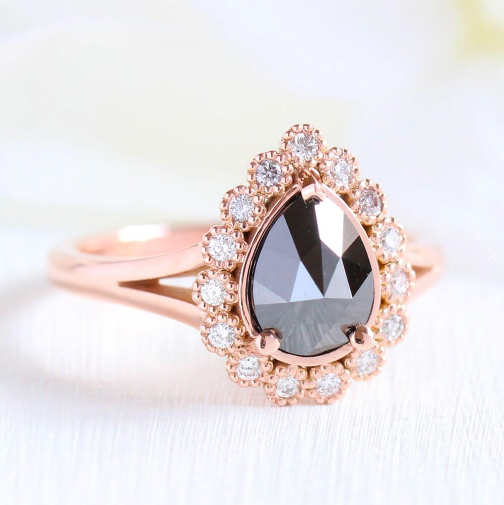 Black Diamond Alternative Engagement Ring