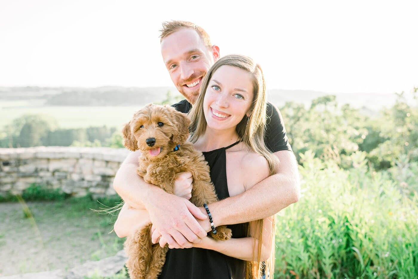 Couple With Dog Photo Shoot
