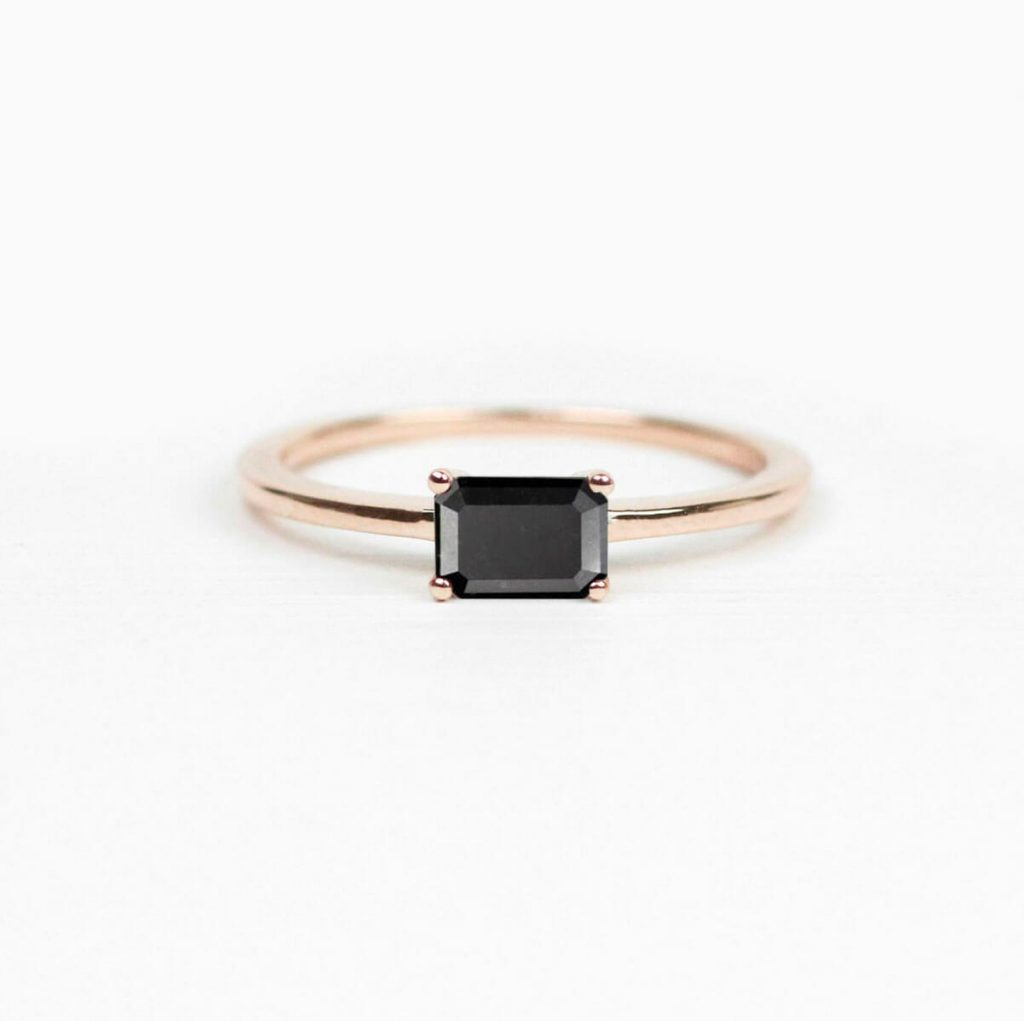Minimalistic Black Diamond Ring