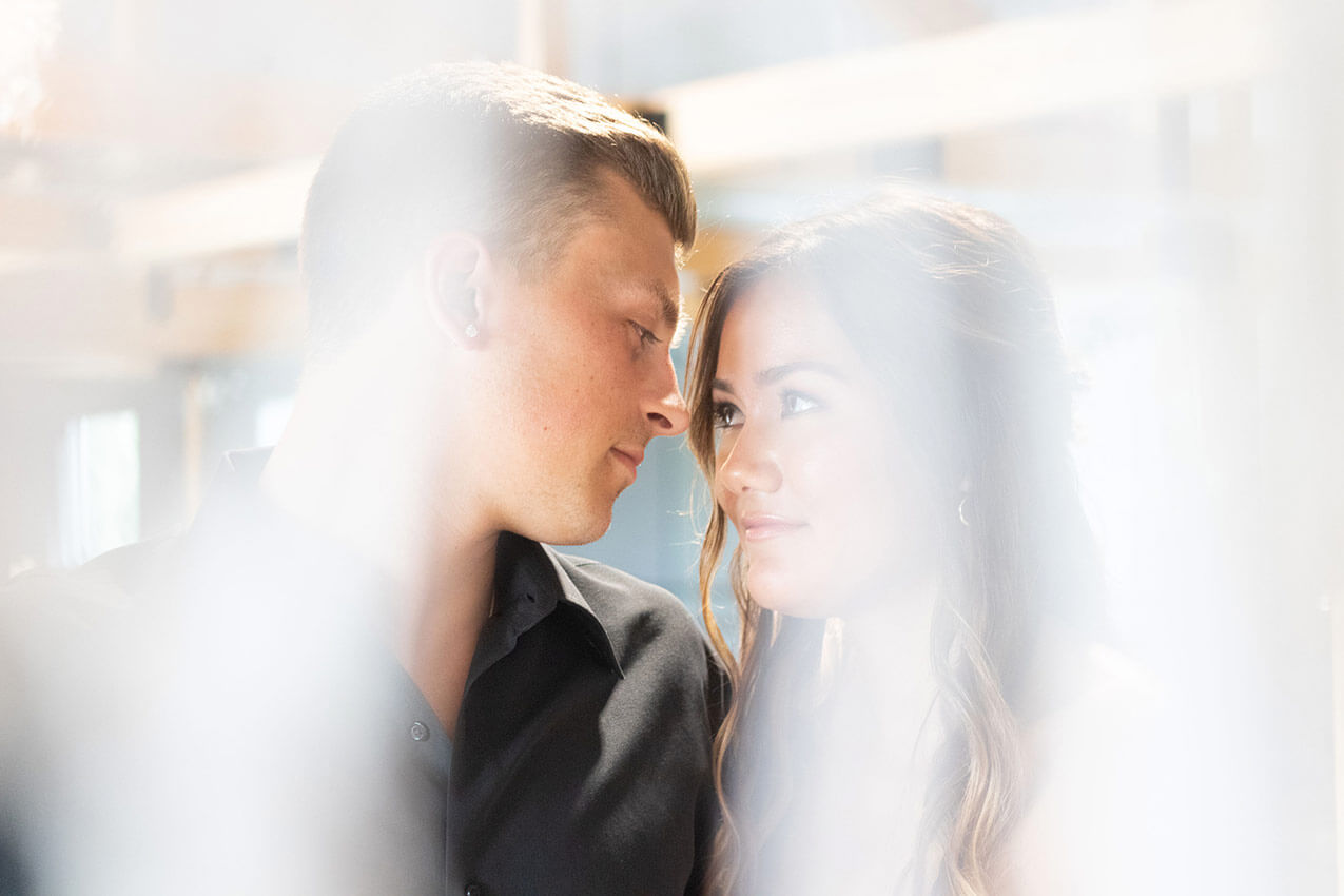 Moody Romantic Wedding Portrait
