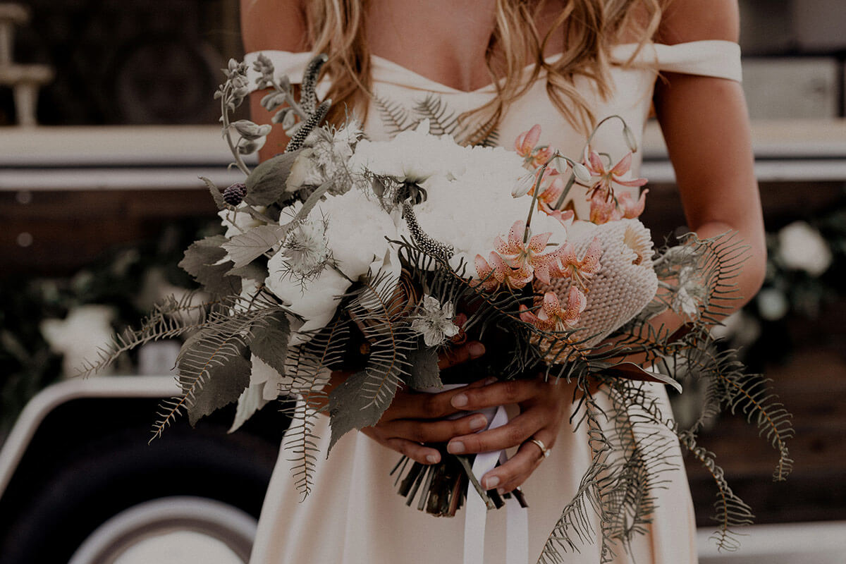 Moody Floral Wedding Bouquet