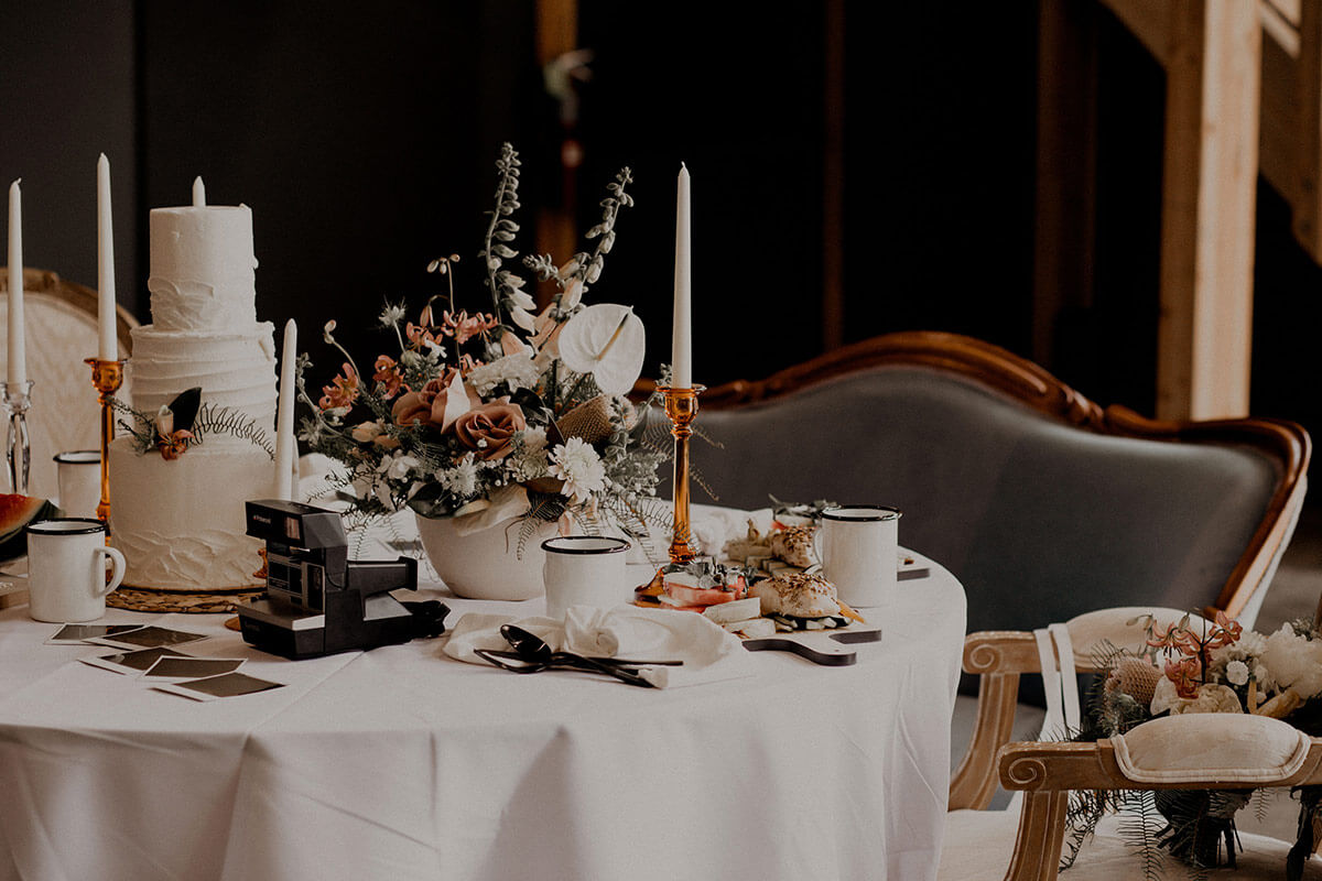 Moody Romantic Wedding Tablescape