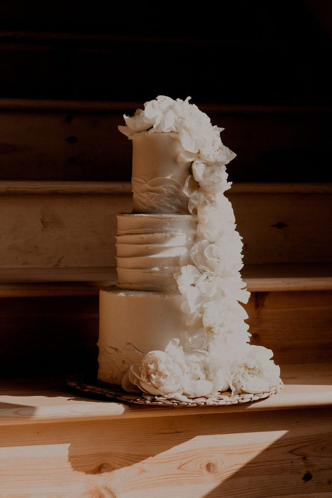 Multi-Tiered White Wedding Cake