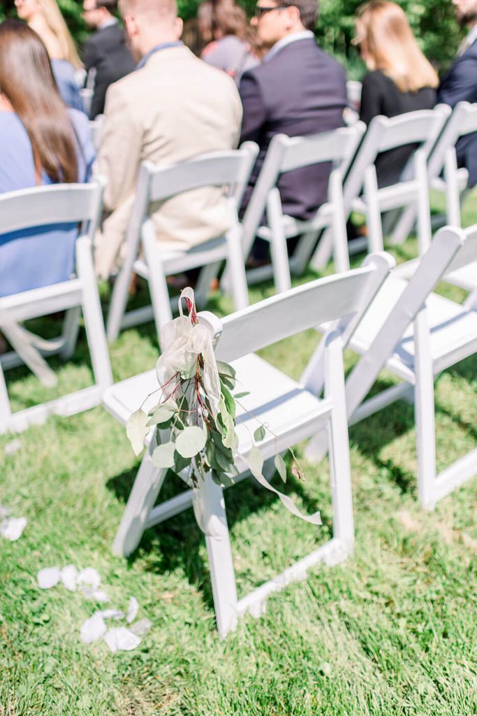 Summer Wedding Ceremony Decor