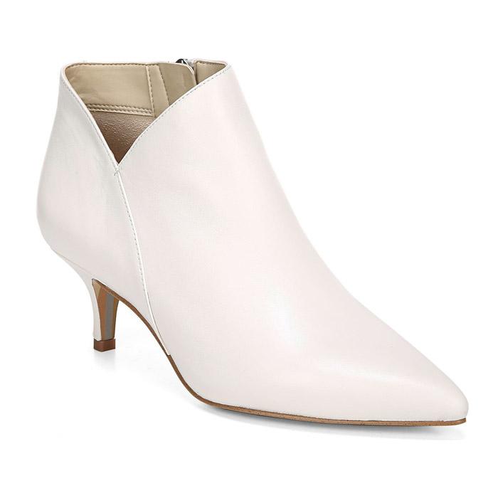 White Kitten Heel Booties
