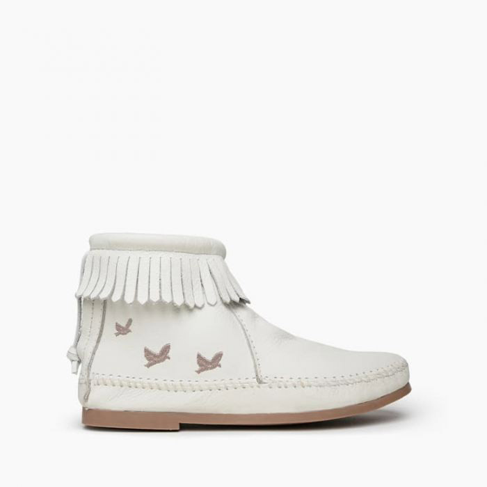 White Minnetonka Booties