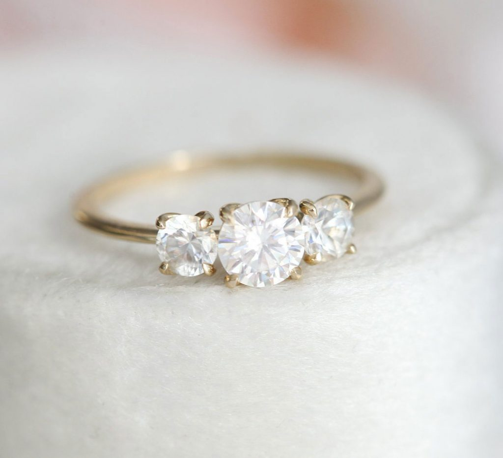 Affordable Moissanite Engagement Ring Under $1500