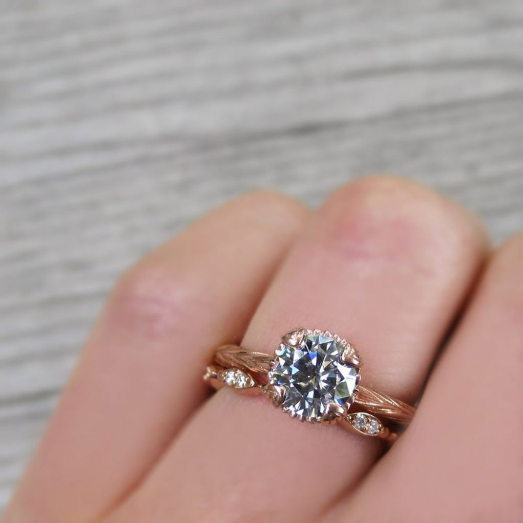 Grey Moissanite Ring