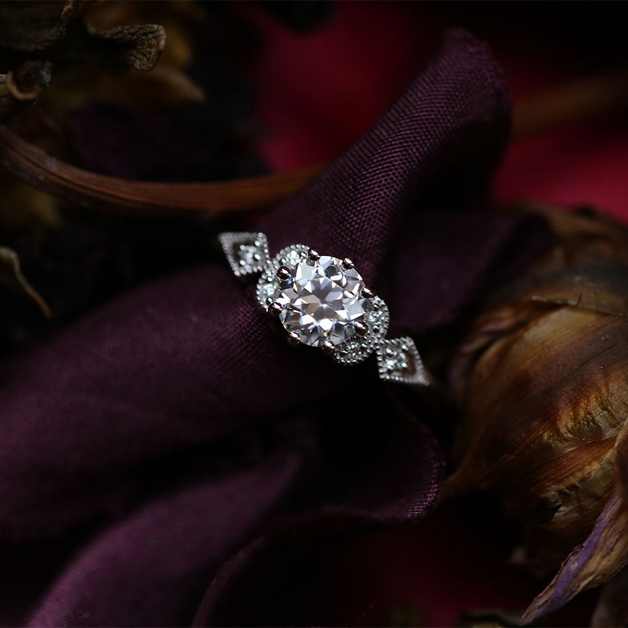 Handmade Moissanite Ring