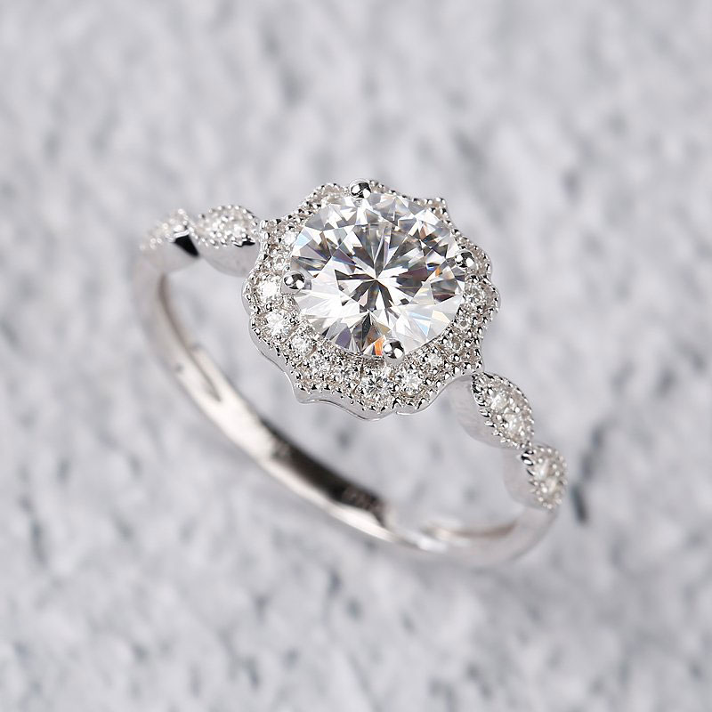 Moissanite Engagement Ring Under $500