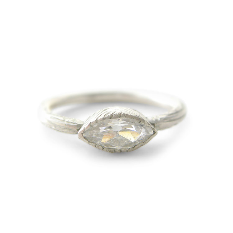 Marquise Moissanite Ring