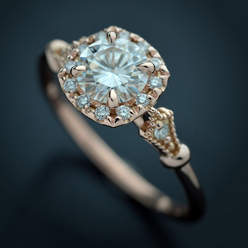 Moissanite Engagement Ring Under $1000