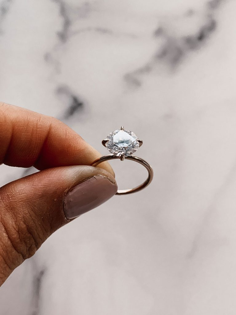 Budget-Friendly Moissanite Engagement Ring