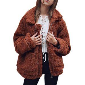 oversized fuzzy jacket