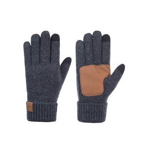 men's grey gloves