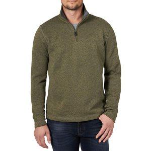 fleece quarter-zip sweater