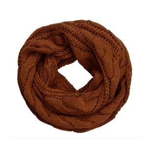 knit rust infinity scarf