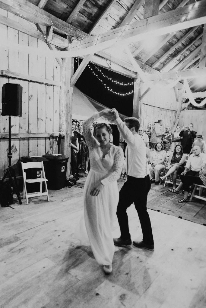 first dance at mae & max's wisconsin farm wedding