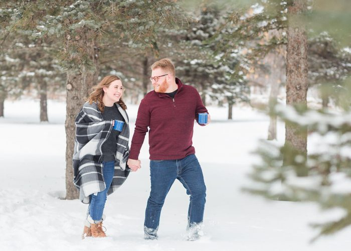 A Cozy Winter Engagement in Moorhead, Minnesota (Hot Cocoa Included!)