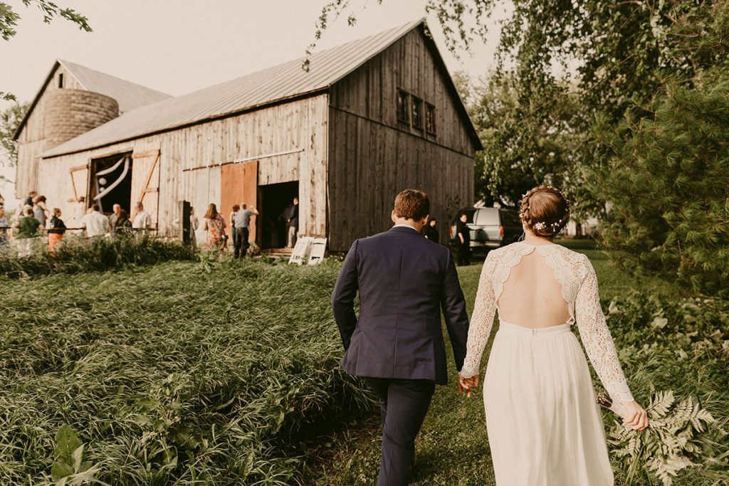 small barn wedding reception
